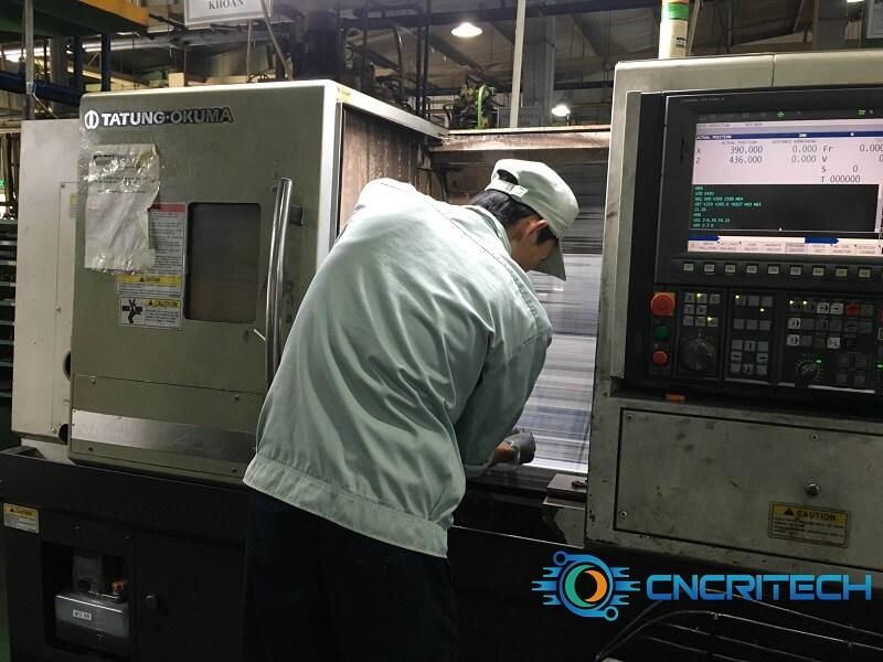 Sửa chữa máy tiện CNC Tatung Ọkuma