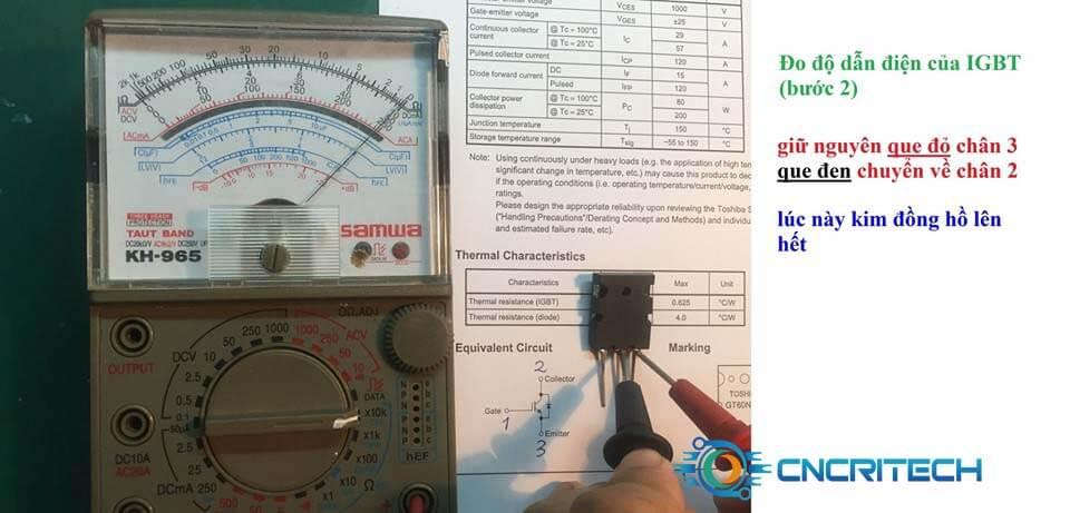 Đo độ dẫn điện của IGBT bước 2
