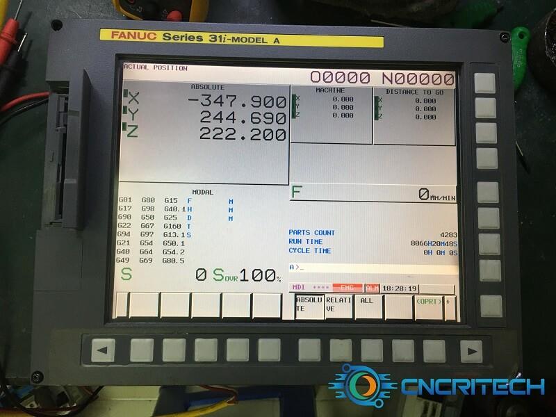 Màn hình máy khoan CNC Fanuc Robodrill α - T14iFe đã OK